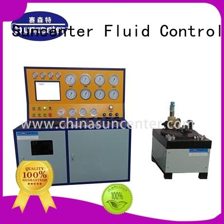 Suncenter test valve test bench for factory