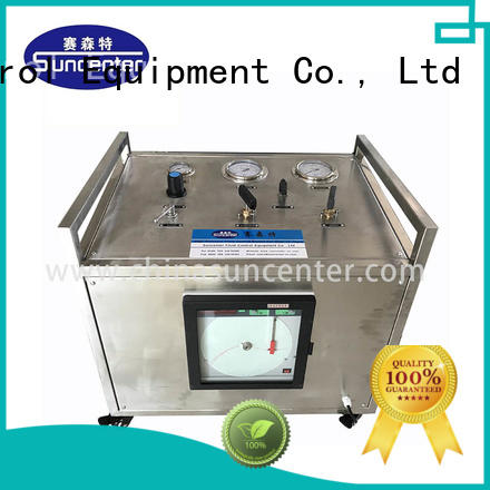 Suncenter bench hydraulic test bench free design for natural gas boosts pressure