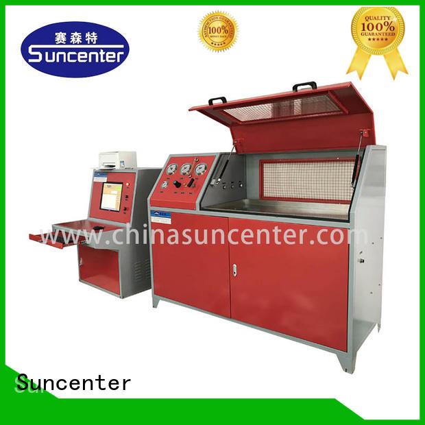 Suncenter machine water pressure tester application for pressure test