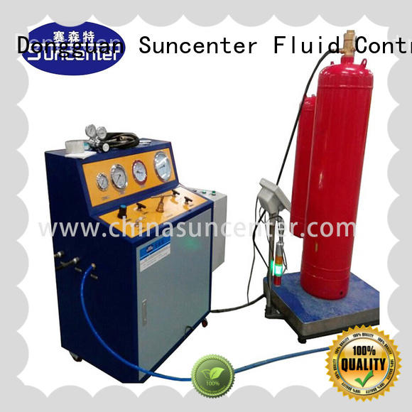 Suncenter high-energy fire extinguisher refill station filling for fire extinguisher