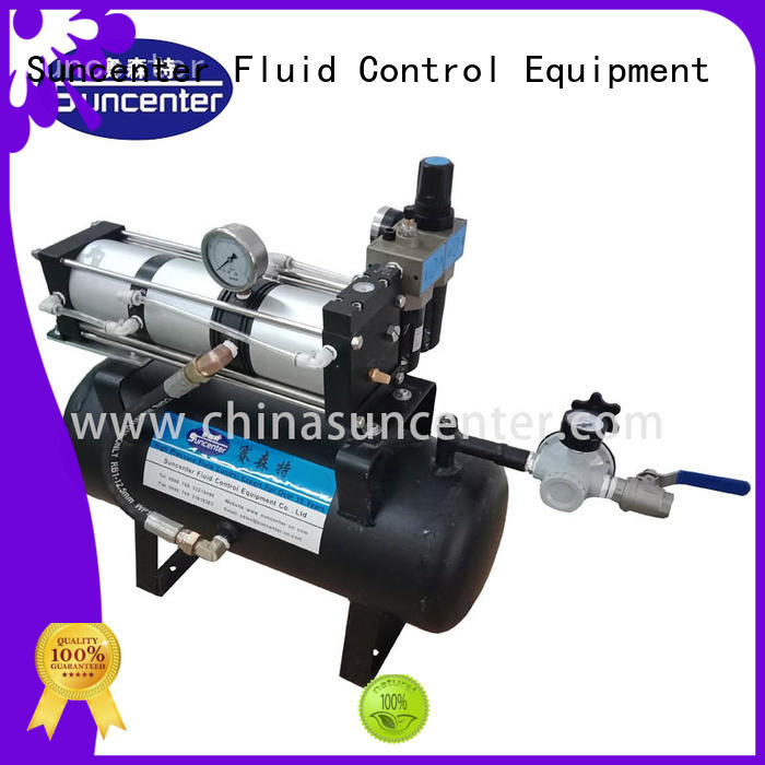 Suncenter light weight booster air compressor manufacturer for natural gas boosts pressure