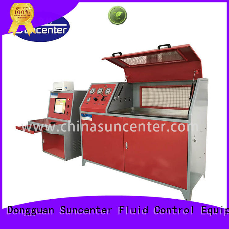 Suncenter hydraulic water pressure tester application for flat pressure strength test