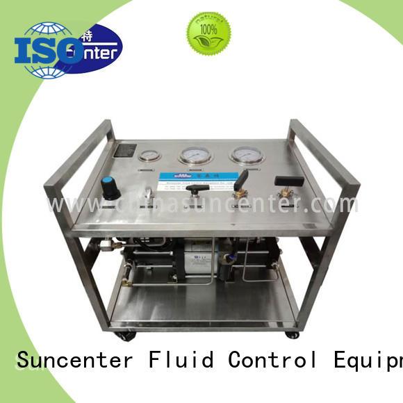 Gas booster pump system